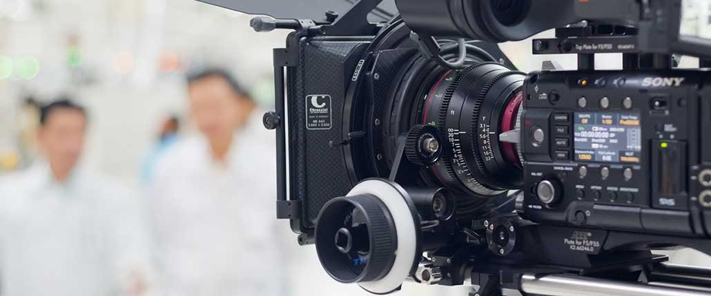 Macchine da presa professionali per girare video di qualità
